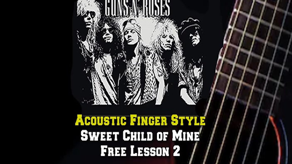 Guns and Roses Sweet Child of Mine Lesson 2