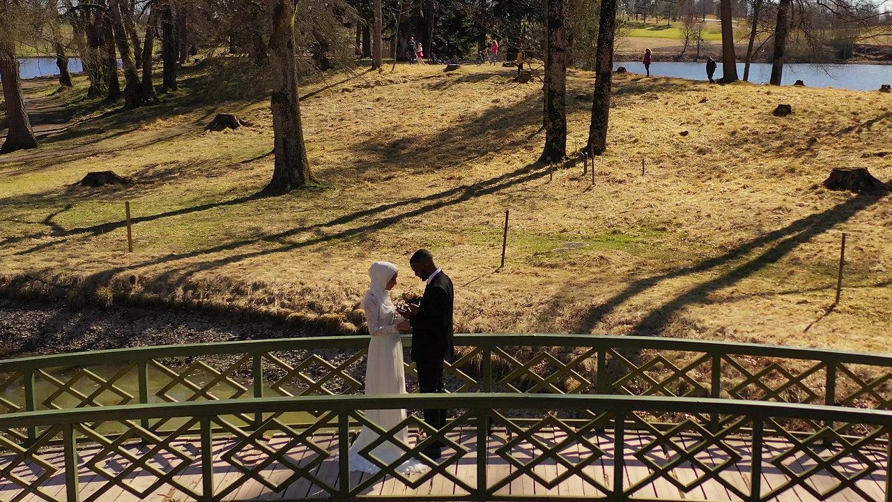 Eksempel på bryllupsvideo med drone