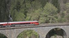 Luftaufnahme Arlbergstrecke Vorarlberg - Tirol