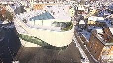 Luftaufnahme Montforthaus Feldkirch / Vorarlberg