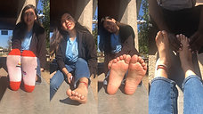 20yo Bubbly Catherine Shows Us Her Feet & Gets a Foot Rub