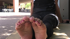Meeting April's Fit Latina Feet