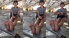 LA Freshman Feet Tickled at LACMA (Short Bonus Clip)