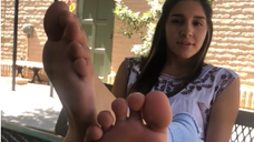 Gisele's Soles Relaxing on Campus