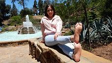 Aesthetic Andrea Peels Off Her Sneakers & Socks