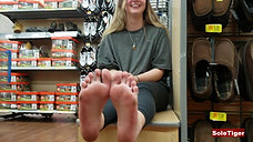 Meeting Becca's Soles in a Store (SoleTiger)