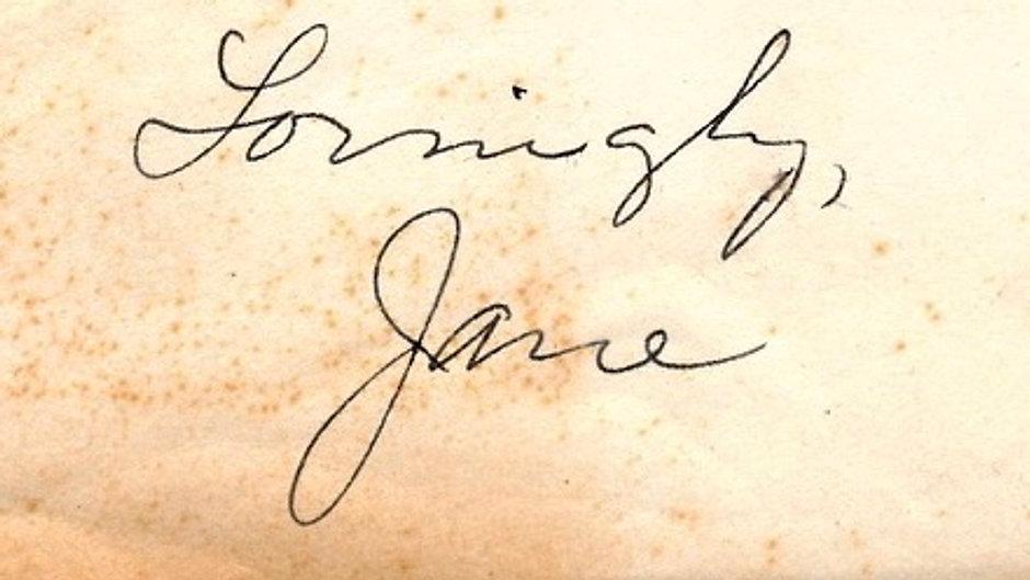 Lovingly, Jane