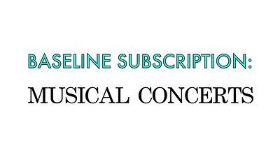 2021 Musical Concert: SUBSCRIPTION