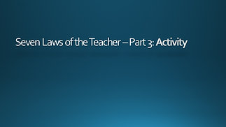 The Law of Activity