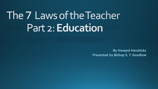 The  Law of Education