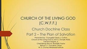 CHURCH DOCTRINE CLASS - PART 2