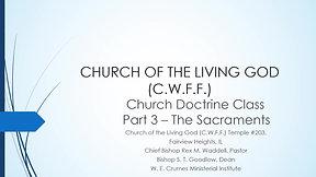 CHURCH DOCTRINE CLASS - PART 3