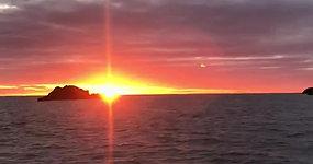 Sunrise over Dunbar harbour