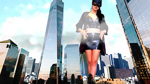 59 Giantess in the city of skyscrapers