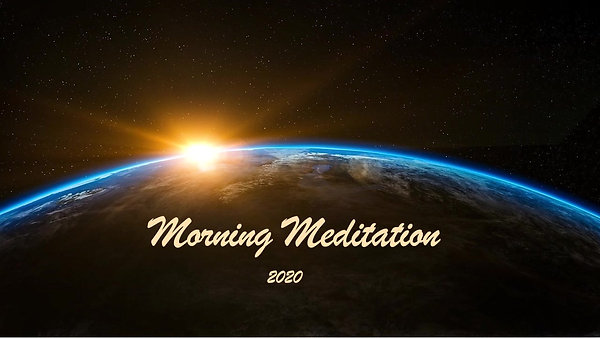 Morning Meditation Autumn JFO 2020