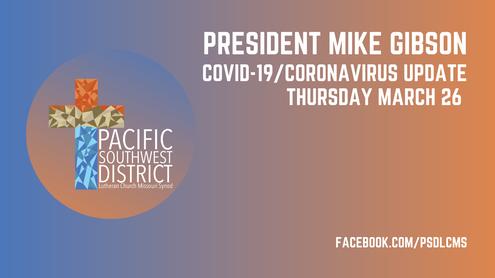March 26, 2020 Facebook Live Update