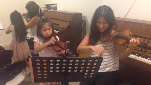Tanya violin lesson
