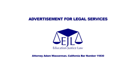Advertisement for Legal Services