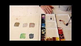 Watercolor Tutorial: Mixing Colors