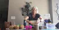 Mrs Meckl bird feeder making
