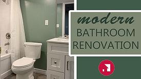 416HomeReno Green Bathroom transformation