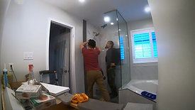 Time-lapse: glass shower installation