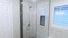 Before and after: Corner glass shower installation
