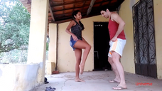Blue Shorts Ballbusting