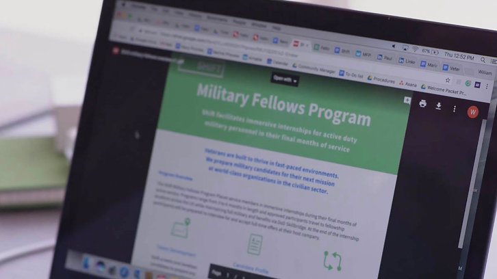 About Shift's veteran transition program