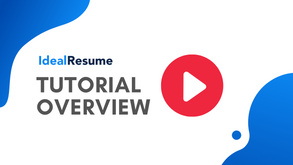 Ideal Resume Demo Overview