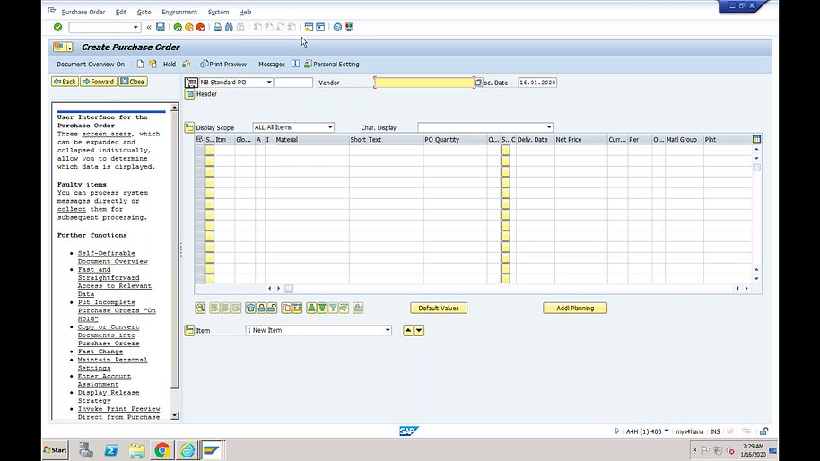 SAP S/4 HANA Logistics