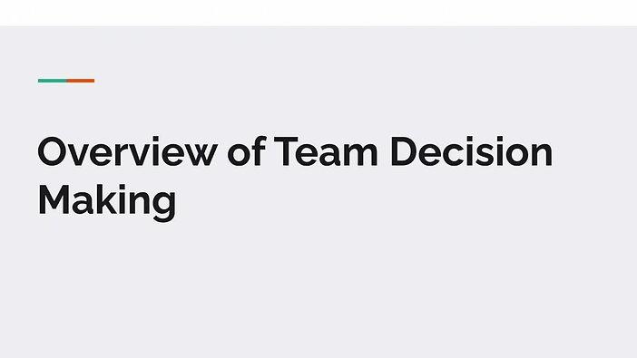 DECA Team Decision Making (TDM)