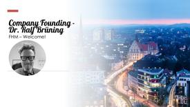 Company Founding - Dr. Ralf Brüning