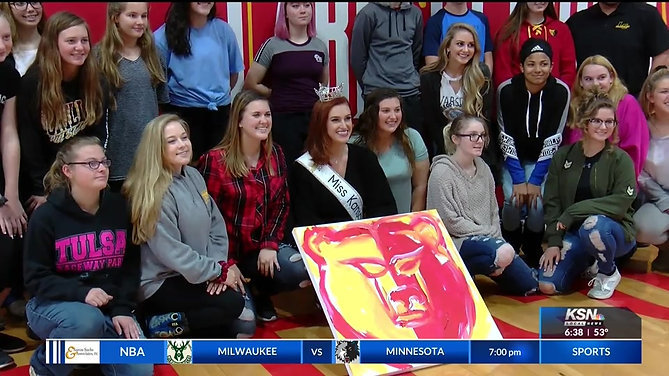 KSNFKODE - Miss Kansas talks smart lifestyle decisions with Labette County students
