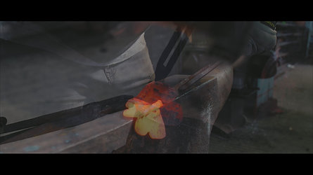 How to forge a steel butterfly