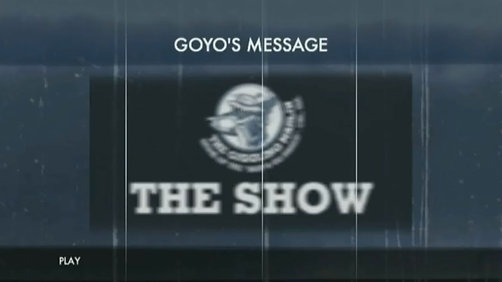 GOYO'S MESSAGE