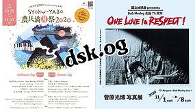 2020.10.31 横須賀 SHOKU-YABO農園/11.04 国立 地球屋