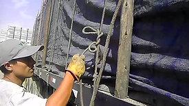 Nudo de amarre de seguridad de carga
