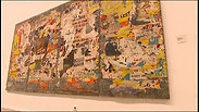 'La gitane', Raymond Hains, 1960-1968, matériaux: affices lacérées sur panneau de tôle
