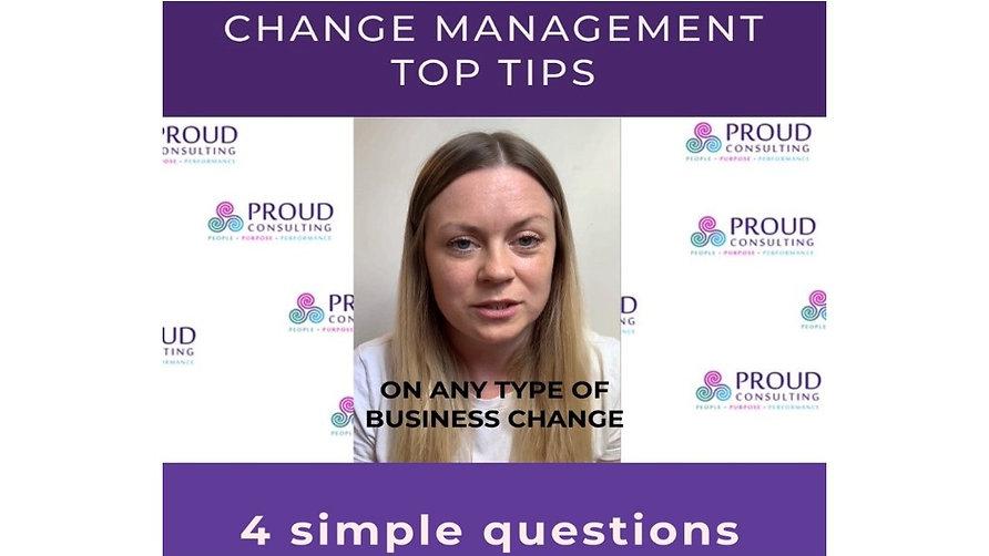 Change Management Top Tips Series