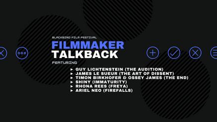 Filmmaker TalkBack (6/29)