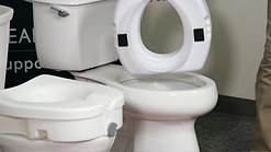 How secure are elevated toilet seats?