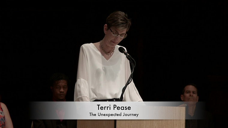 "Terri Pease, ""The Unexpected Journey"""