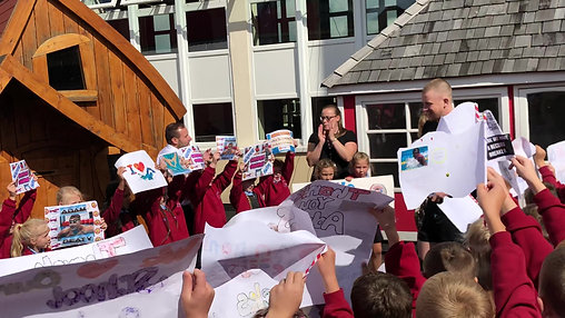 Our pupils welcome Adam!