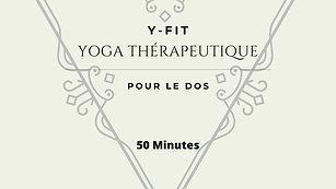 Yoga thérapeutique pour le dos