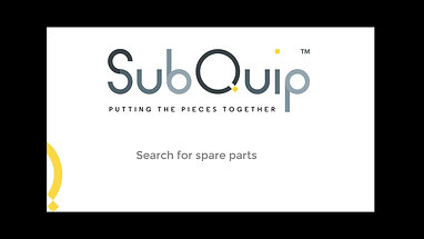 Search for spare parts
