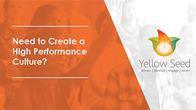Need To Create A High Performance Culture?