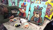 Art Class Brisbane Tribal Ted with Artist Katie McErlean