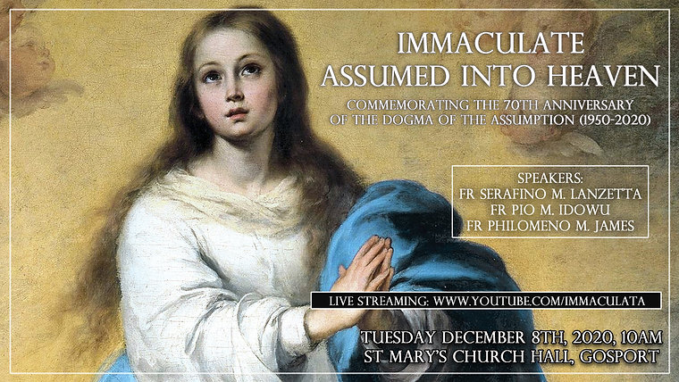 Immaculate Assumed into Heaven. Commemorating the 70th Anniversary of the Dogma of the Assumption (1950-2020)