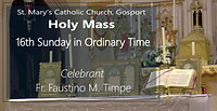 11:00am Holy Mass, Celebrant: Fr. Faustino M. Timpe